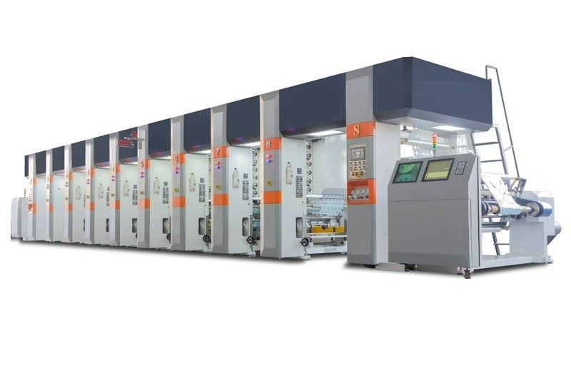 8 Color Rotogravure Printing Machines , Gravure Printing Press Steady Tension Control
