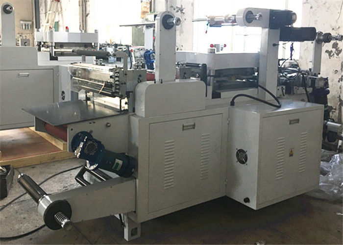 PP Foil / Aluminum Foil Label Die Cutting Machine 550mm Unwinding / Rewinding Diameter