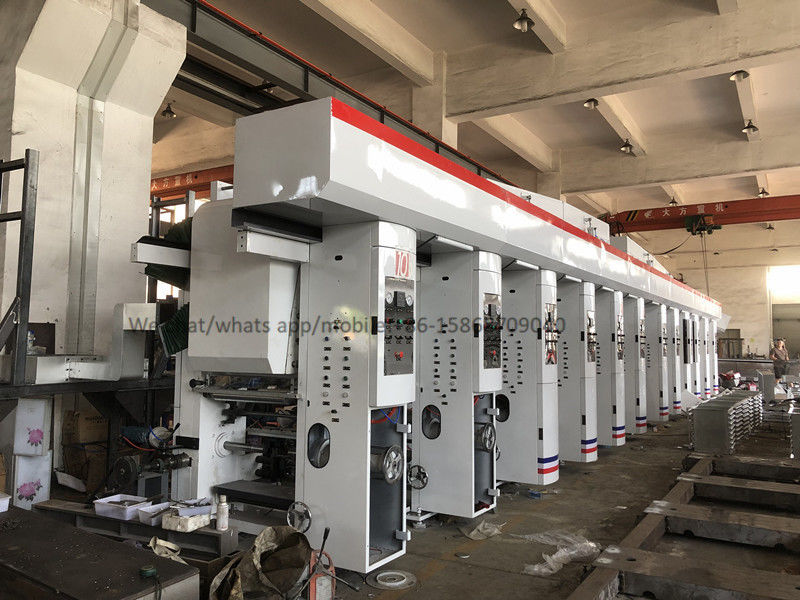 Roll To Roll Multi Colour Rotogravure Printing Machine / Plastic Gravure Printing Machine